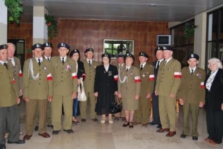 Członkowie Stowarzyszenia Żołnierzy Armii Krajowej na Białorusi