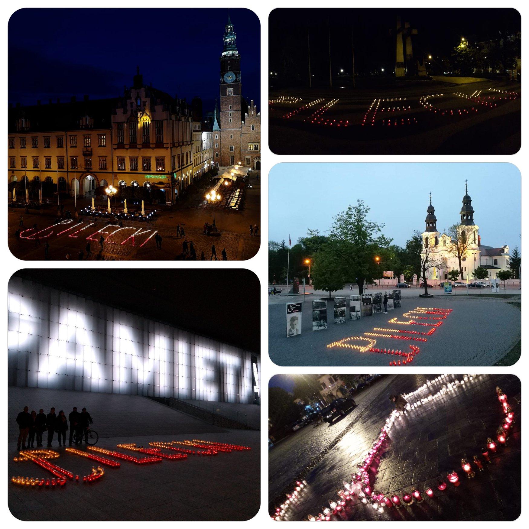 Pamiętamy o Rotmistrzu – symboliczne znicze w różnych miastach Polski