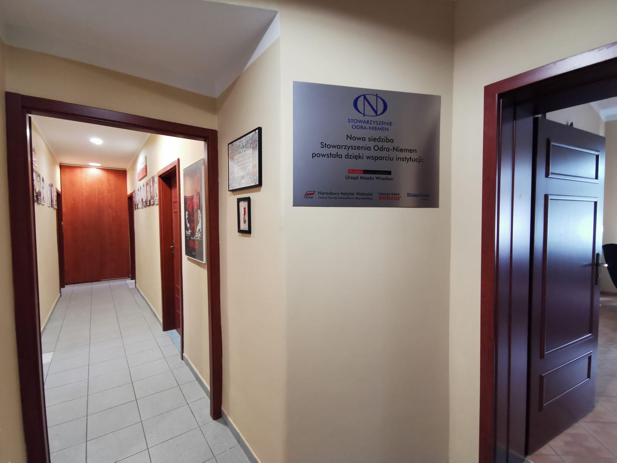 Wejście do nowej siedziby Odra-Niemen – centrum Wrocławia