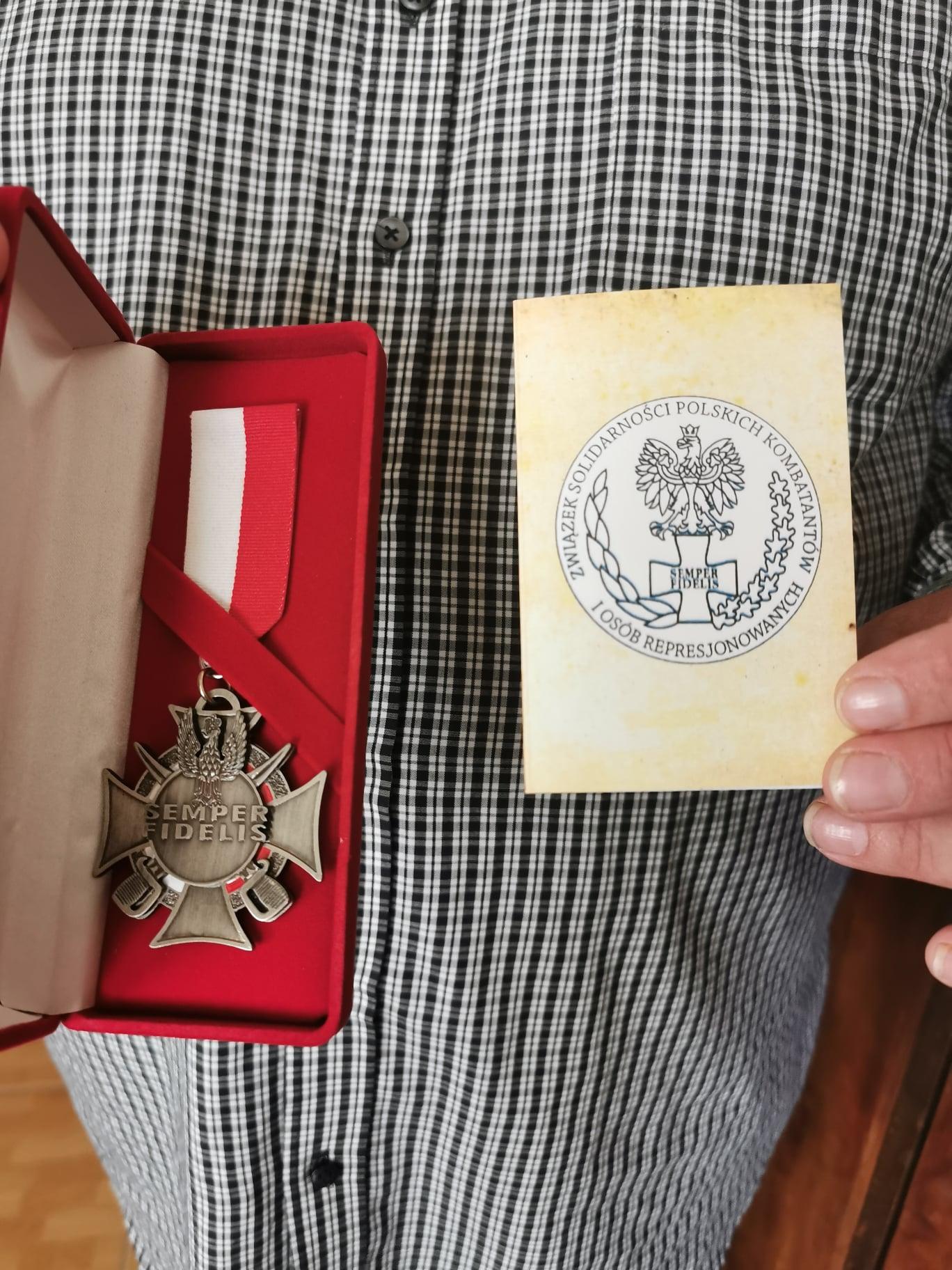 Medal Semper Fidelis od Związku Solidarności Polskich Kombatantów i Osób Represjonowanych