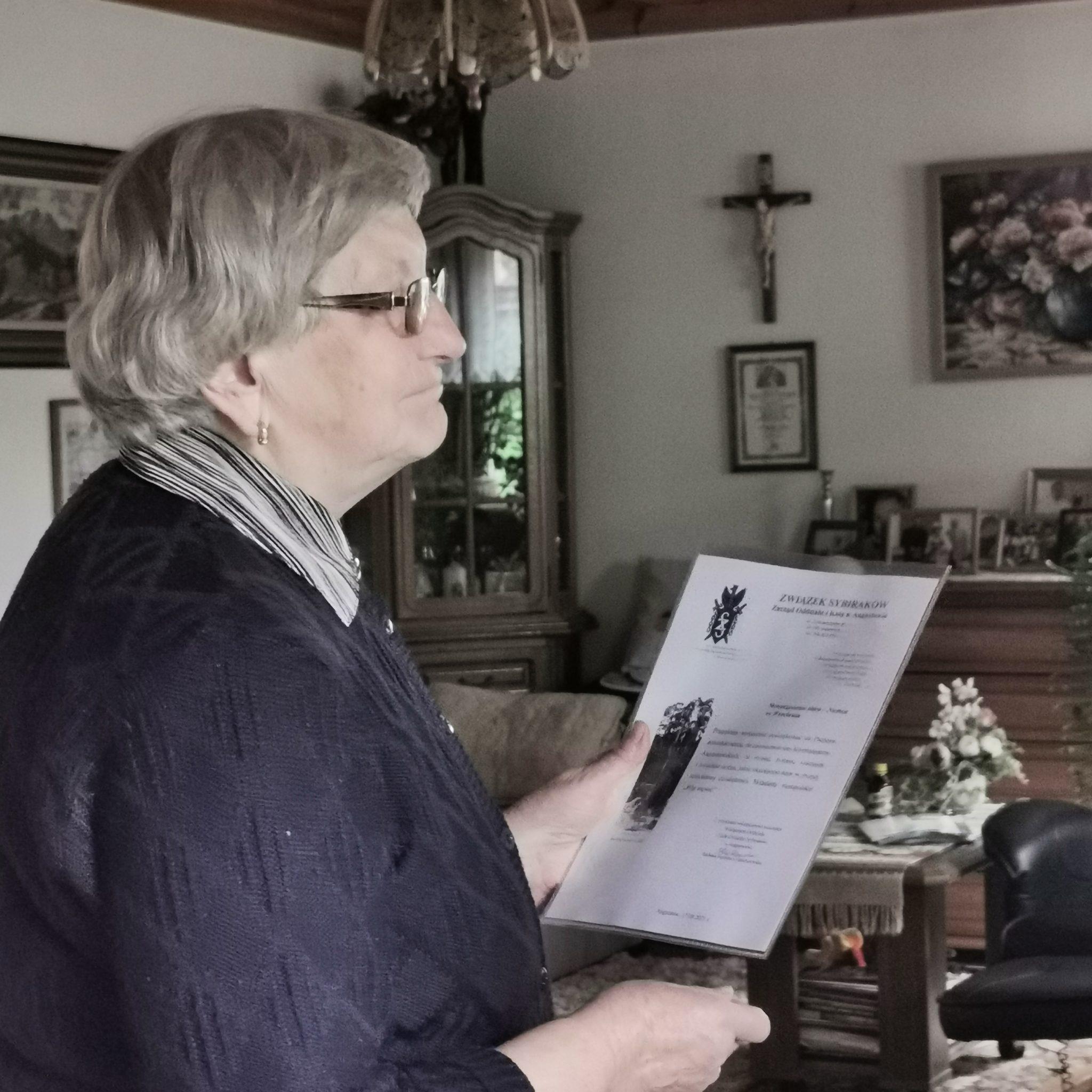 Spotkanie z Sybiraczką Panią Barbarą Czartoszewską z Augustowa
